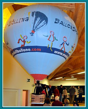 Modellballon Bölling, Kaltluft Ballon, Ballonwerbung, Neue Wege in der Markenbildung