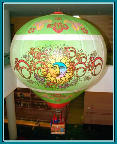 Modellballon, Kunst am Ballon, die schwebende Werbung, Kaltluftballon der besonderen Art